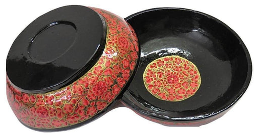 IndicHues Handcrafted Papier Mache Pink Bowl Set of 2 from Kashmir - IndicHues