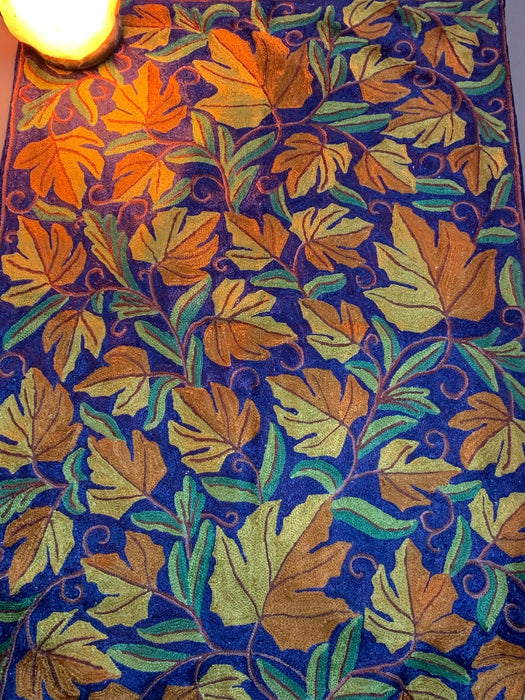 IndicHues Handmade Crewel  Embroidered With Silk Thread 2x3 feet Rug From Kashmir