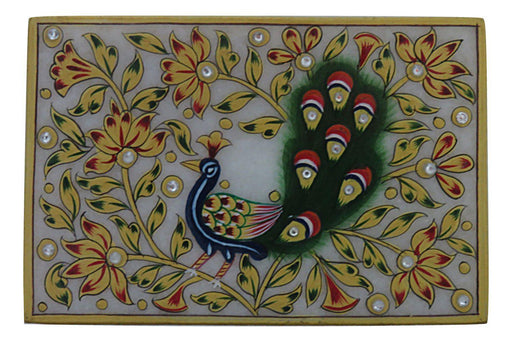 IndicHues Handmade Marble Rectangular Decorative Jewelry Box - IndicHues