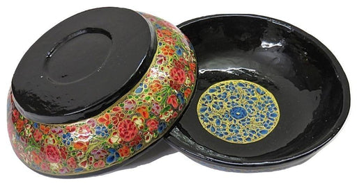 IndicHues Handcrafted Papier Mache Red, Blue Bowl Set of 2 from Kashmir - IndicHues