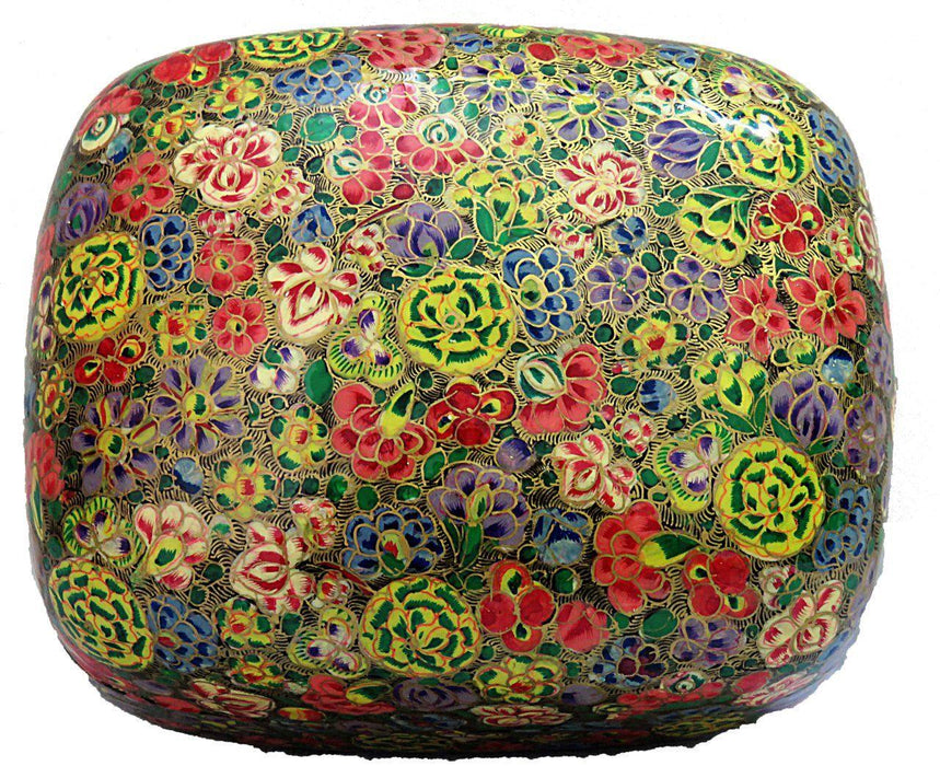 IndicHues Handpainted 4*3 inch Paper Mache Trinket Jewelry Box