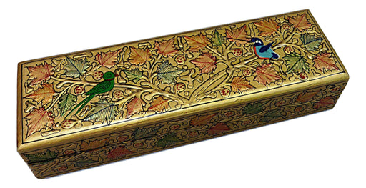 IndicHues Handpainted Paper Mache Watch Case from Kashmir - IndicHues