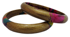 IndicHues Stylish Handmade Golden Lac Bangles Set of 2 from Rajasthan - IndicHues