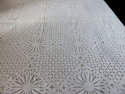 IndicHues White Applique Bedspread from Rajasthan - IndicHues