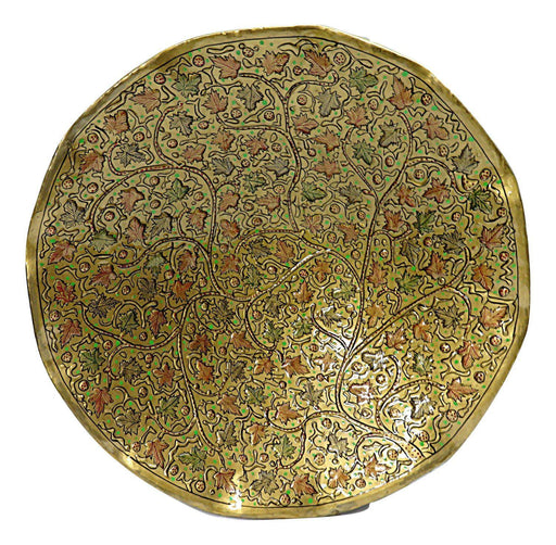 IndicHues Wall Decorative Handpainted Paper Mache Wall Plate from Kashmir - IndicHues