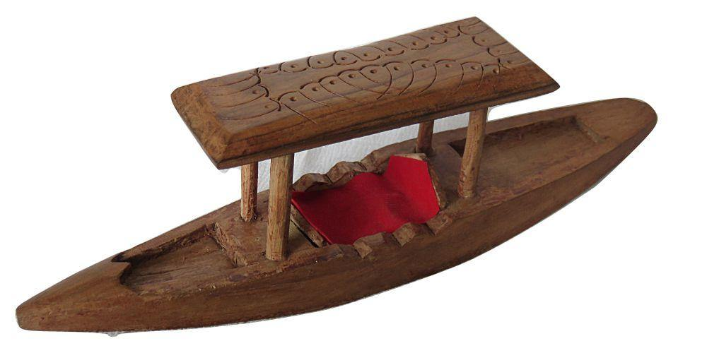 IndicHues Wooden Handcrafted 9 inch Shikara from Kashmir
