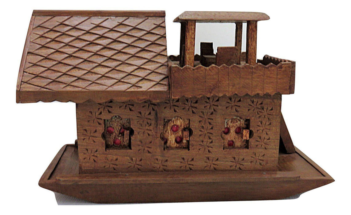 IndicHues Wooden Handcrafted Houseboat from Kashmir - IndicHues
