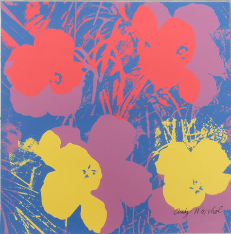 Andy Warhol Flowers signed lithograph limited edition authenticated print