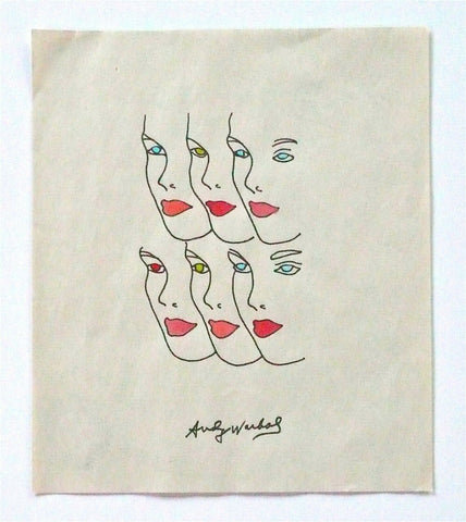 Andy Warhol Hand Painting Faces B Warhol Foundation authenticated