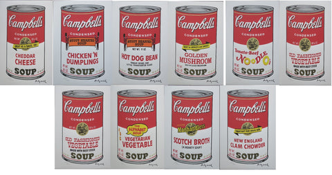 Andy Warhol Lithographs Campbell's Soup II complete set of 10 prints 2400 edition RARE