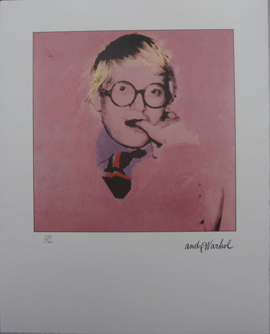 Andy Warhol Portraits David Hockney limited edition  lithographs