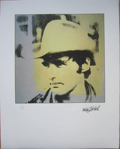 Andy Warhol portrait lithograph Dennis Hopper limited edition yellow