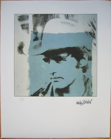 Andy Warhol signed lithograph Dennis Hopper limited edition