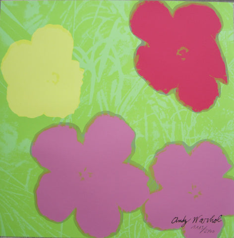 Andy Warhol lithograph Flowers signed numbered authenticated print
