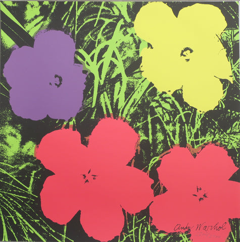 Andy Warhol Lithograph Flowers signed in print limited edition CMOA