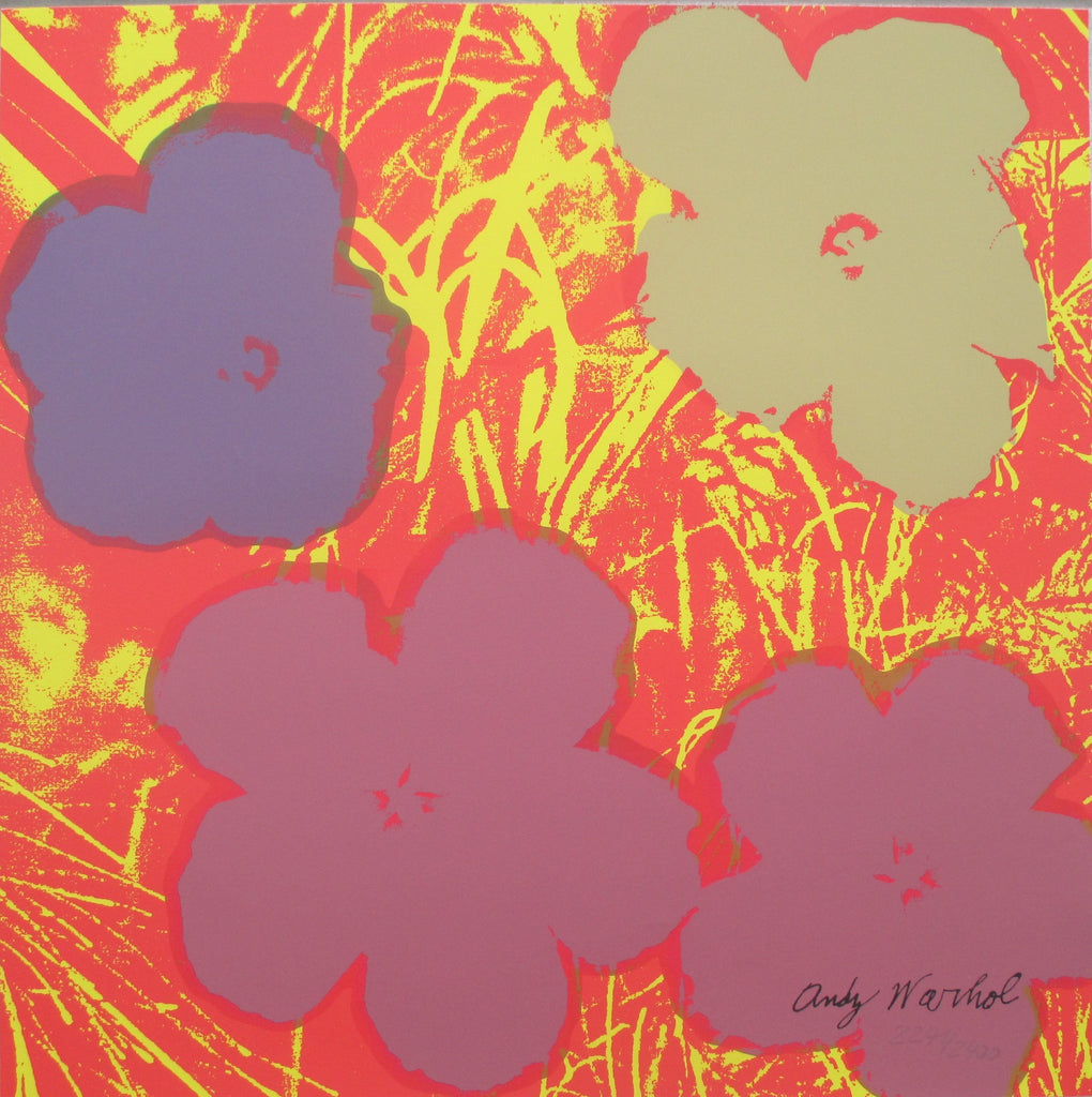 Andy Warhol Flowers signed lithograph authenticated print -  Andy WARHOL lithographs newPOPart Gallery