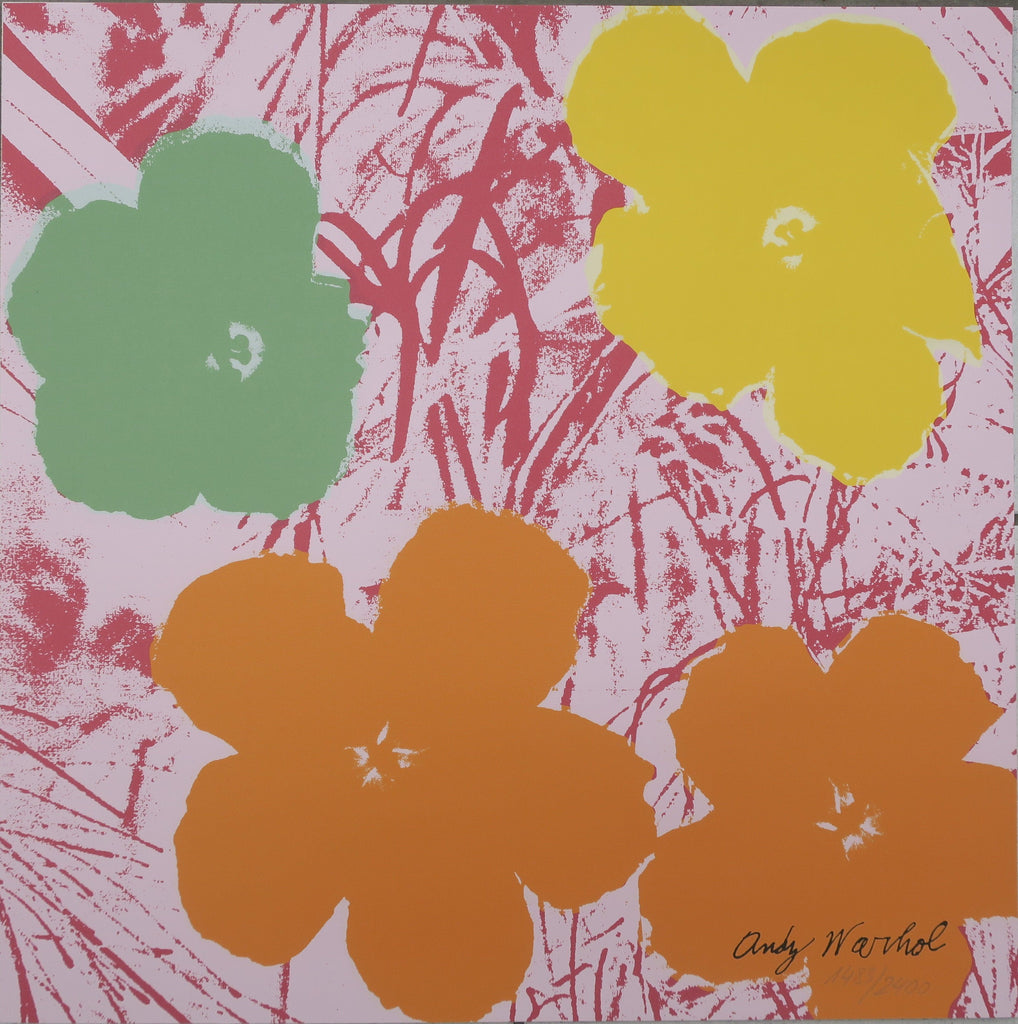 Andy Warhol Flowers signed lithograph authenticated print CMOA -  Andy WARHOL lithographs newPOPart Gallery