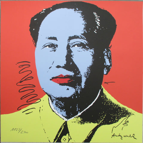 Andy Warhol Mao litografia signed numbered limited edition lithograph
