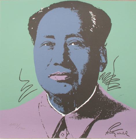 Andy Warhol Mao litografia signed numbered lithograph