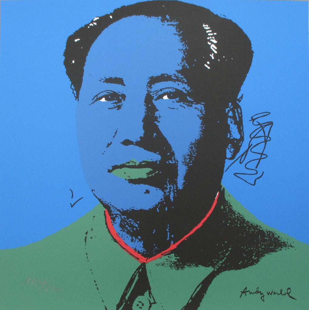 Andy Warhol print Mao authenticated signed print lithograph