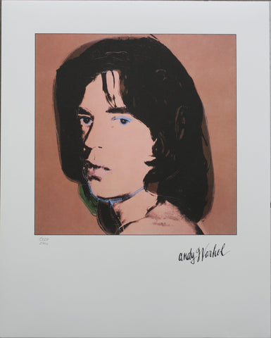 Andy Warhol Mick Jagger signed numbered lithography Rolling Stones