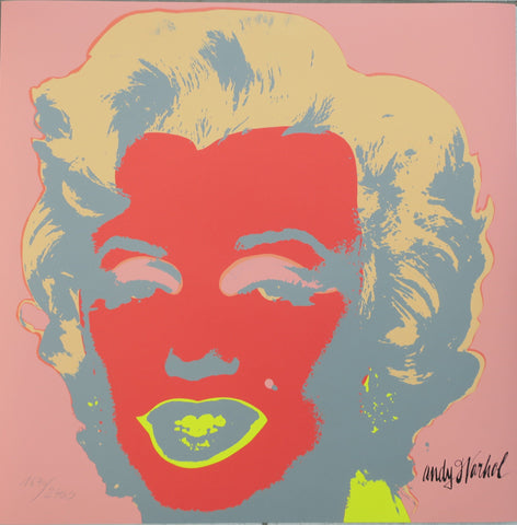 Andy Warhol Marilyn Monroe lithograph signed numbered authenticated print