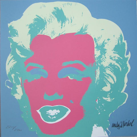 Andy Warhol Marilyn Monroe signed lithograph authenticated print