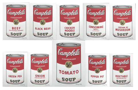 Andy Warhol Campbell's Soup I complete set 10 lithographs incl. TOMATO edition 2400