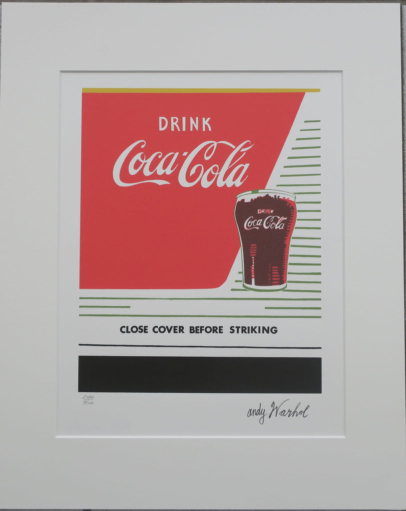Andy Warhol lithograph drink Coca-Cola numbered edition -  Andy WARHOL lithographs newPOPart Gallery