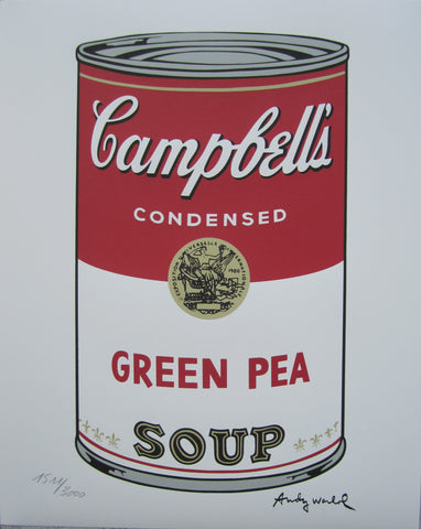 Andy Warhol Campbell's Soup Green Pea signed numbered print