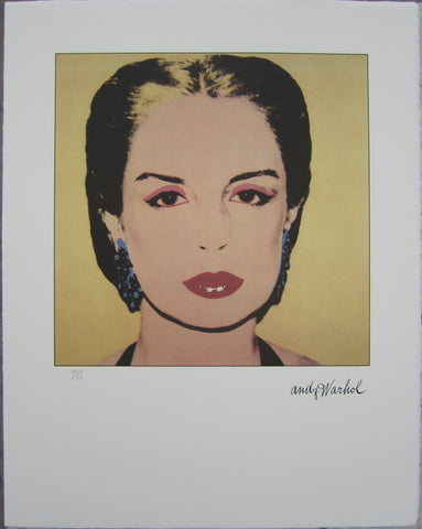 Andy Warhol Portraits Carolina Herrera limited edition  lithographs