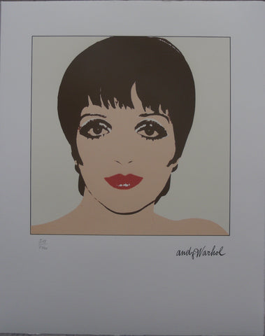 Andy Warhol Portrait Liza Minnelli authenticated lithograph yellow