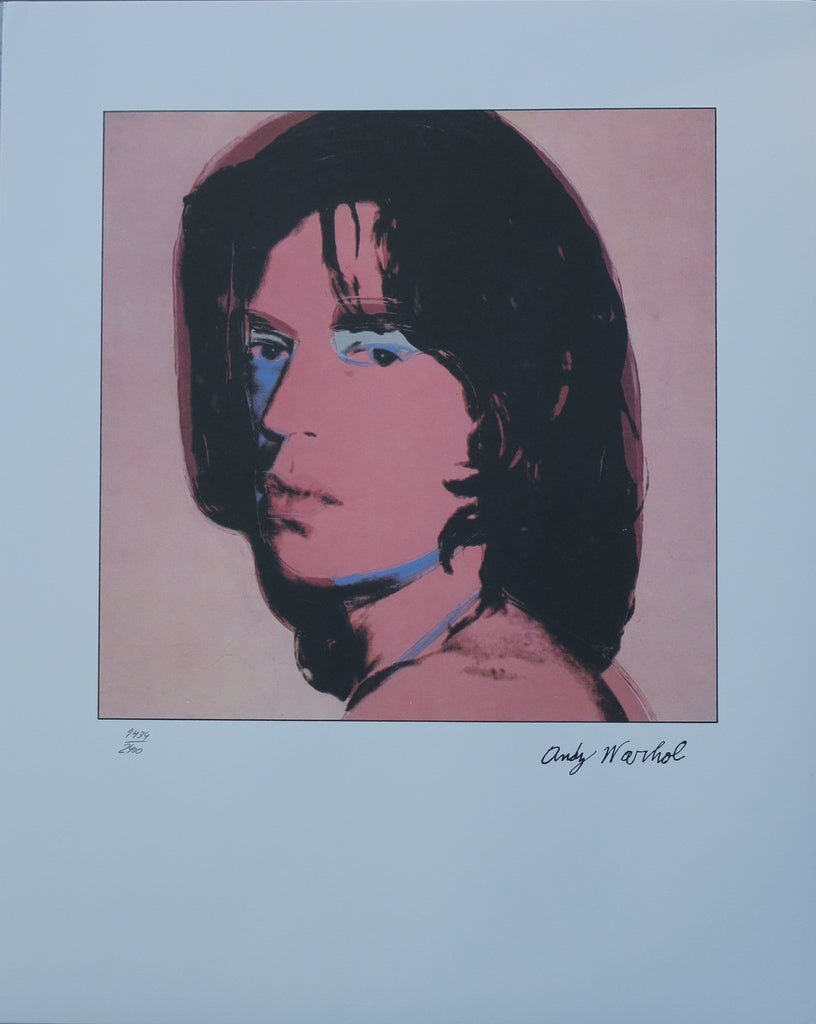 Andy Warhol Portraits Mick Jagger limited edition  lithographs blue -  Andy WARHOL lithographs newPOPart Gallery