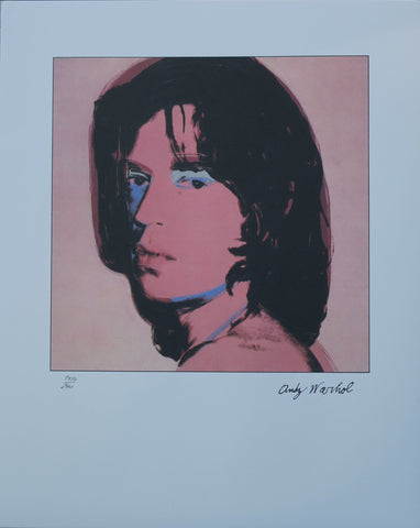 Andy Warhol Portraits Mick Jagger limited edition  lithographs blue