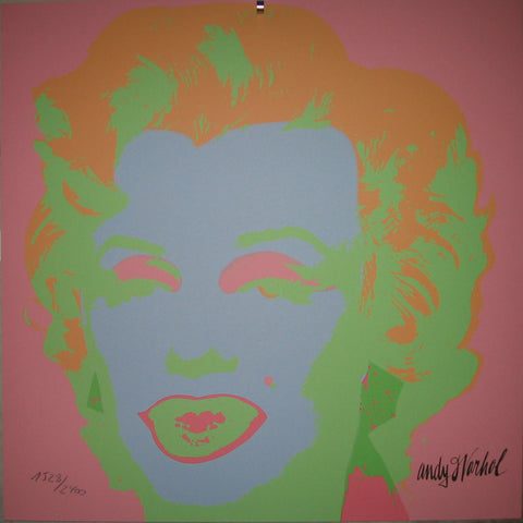 Andy Warhol Marilyn Monroe in candy colors lithograph Sale REDUCED