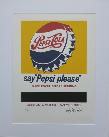"Andy Warhol lithograph say ""Pepsi please"" numbered edition"