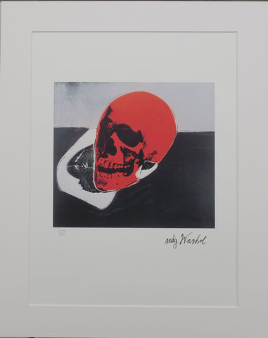 Andy Warhol Skull lithograph