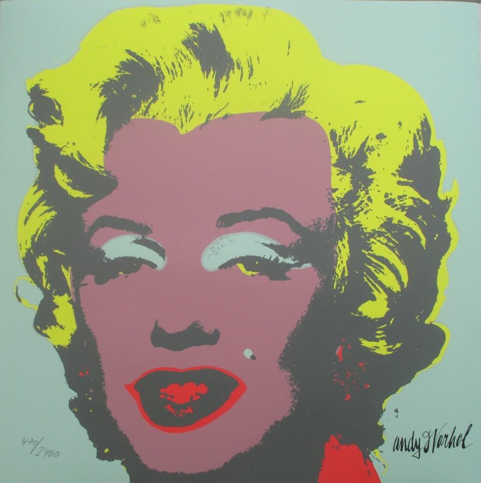 Andy Warhol Marilyn Monroe lithograph newpopart