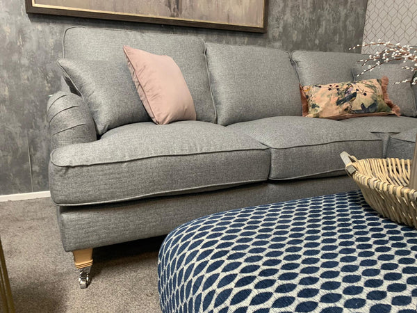 (IN STOCK) The Beatrix Collection Corner Sofa in Norfolk Grey (Right Facing)