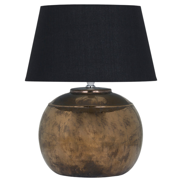 Harlow Bronze Table Lamp with Black Velvet Shade