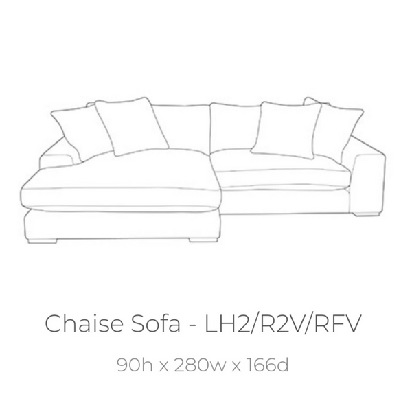 Arriving Feb! - The Champ Collection Corner with Reversible Chaise in Lassie Charcoal