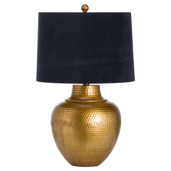 Velma Bronze Table Lamp with Black Velvet Shade