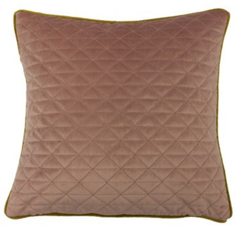 Quartz Quilted Velvet Cushion - Colour Options