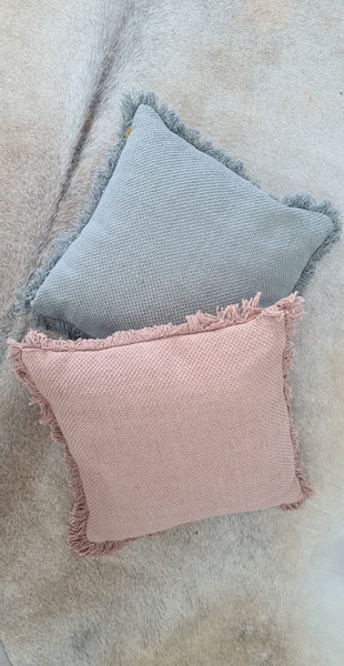 Orla Boho Cushion in Blush - 100% Cotton