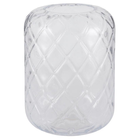 Quadrant Vase in Clear Glass - 2 Size Option