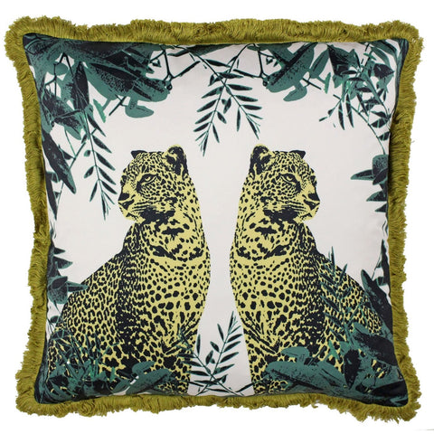 Jungle Fever Twin Leopard Cushion