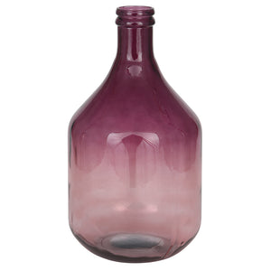 Rose & Aubergine Ombre Finish Glass Bottle