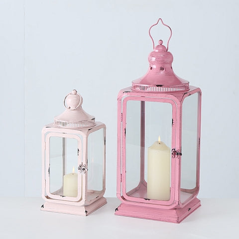 Cassey Lantern Set in Shades of Dusky Rose