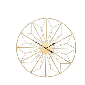 Geo Design Metal Wall Clock