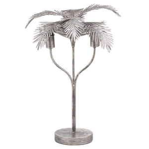 Antique Palm Leaf Table Lamp